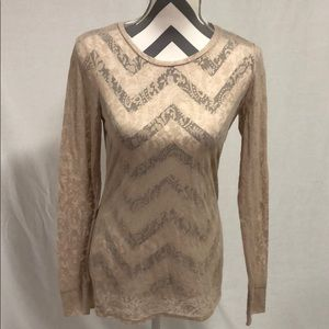 Buckle BKE Gold Metallic Eased Fit Top Size S